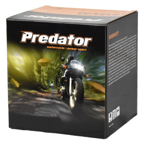 Predator YTX9-BS 12V Sealed Motorcycle Battery